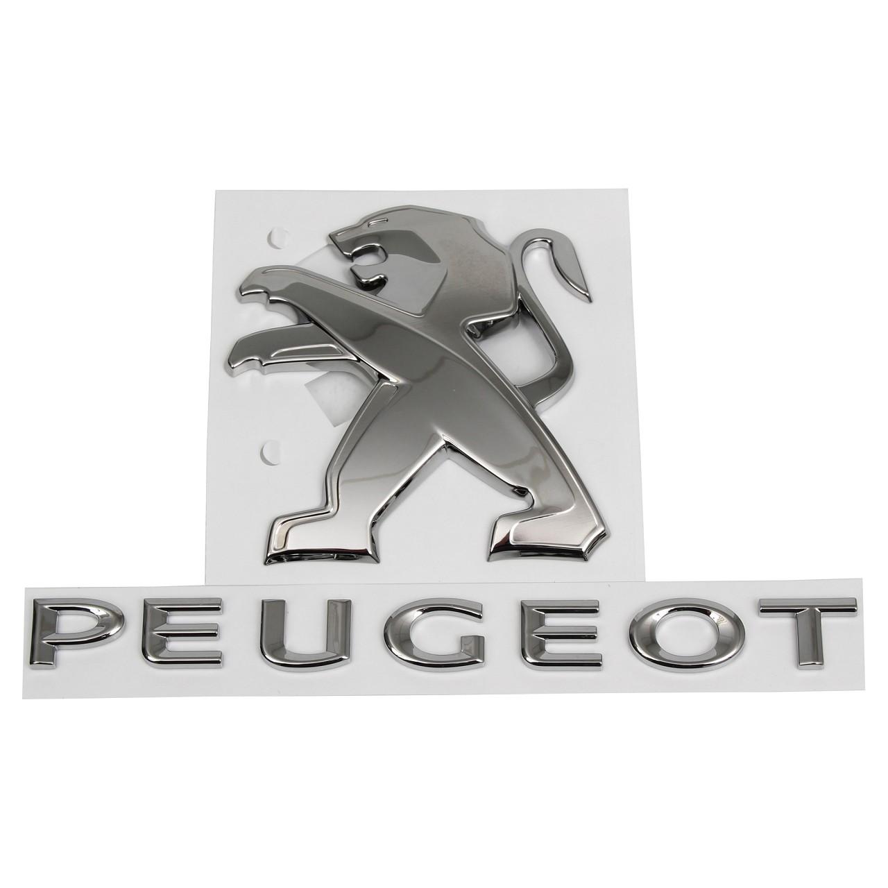ORIGINAL Peugeot Emblem Plakette Logo Heckklappe CHROM 98057002VD für 308 II
