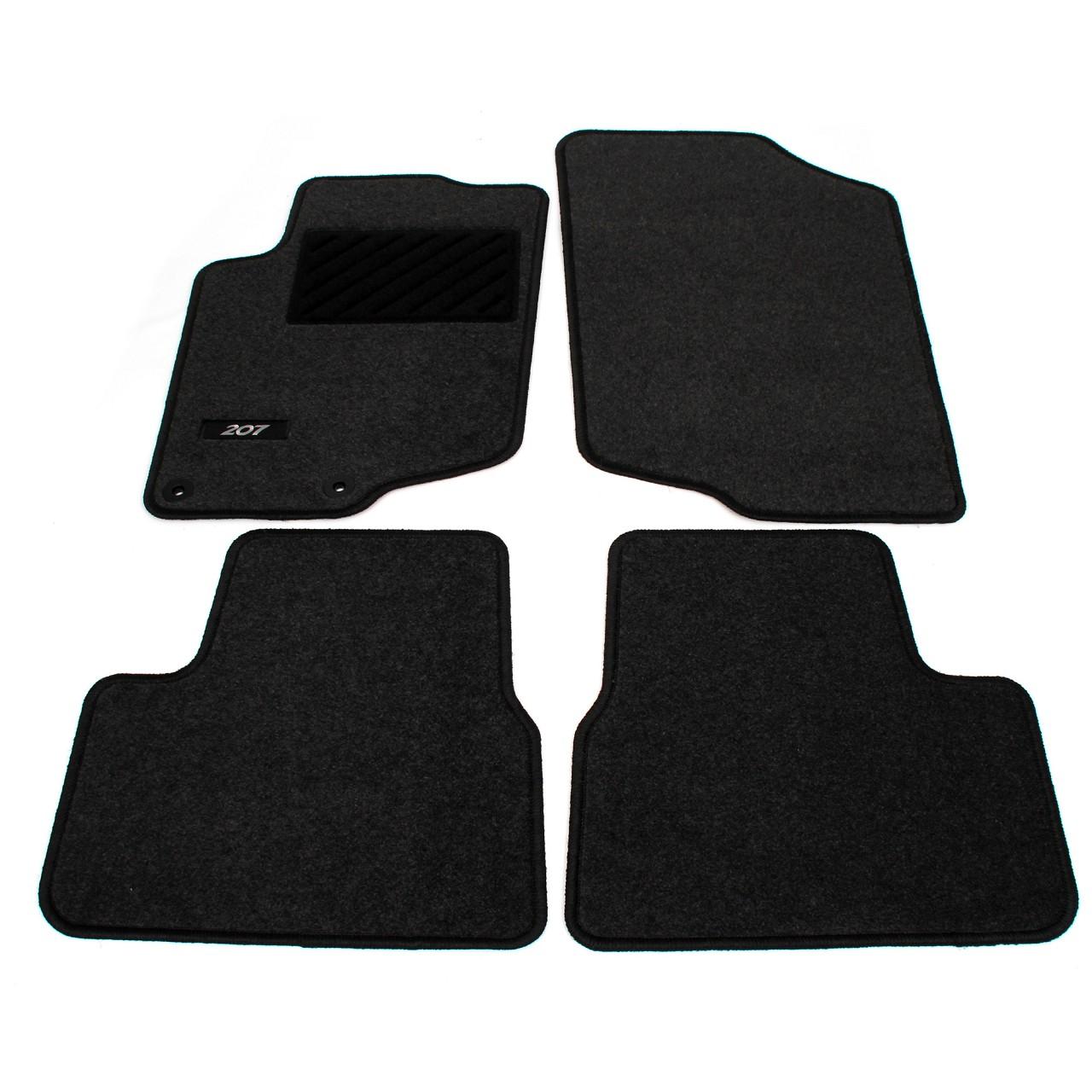 ORIGINAL Peugeot Textilmatten Fußmatten Automatten Satz 207 / SW 4-tlg 9664.VG
