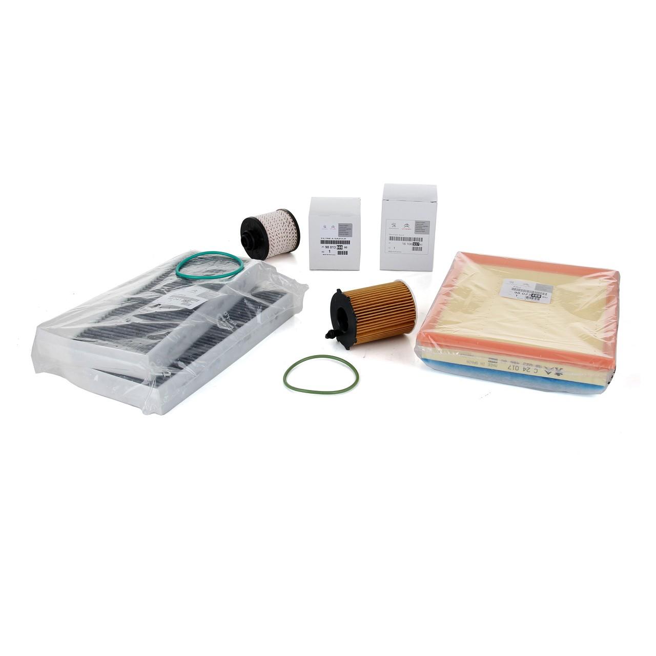 ORIGINAL Peugeot Inspektionskit Filterpaket 308 II / SW II 1.6 HDi 99/120 PS