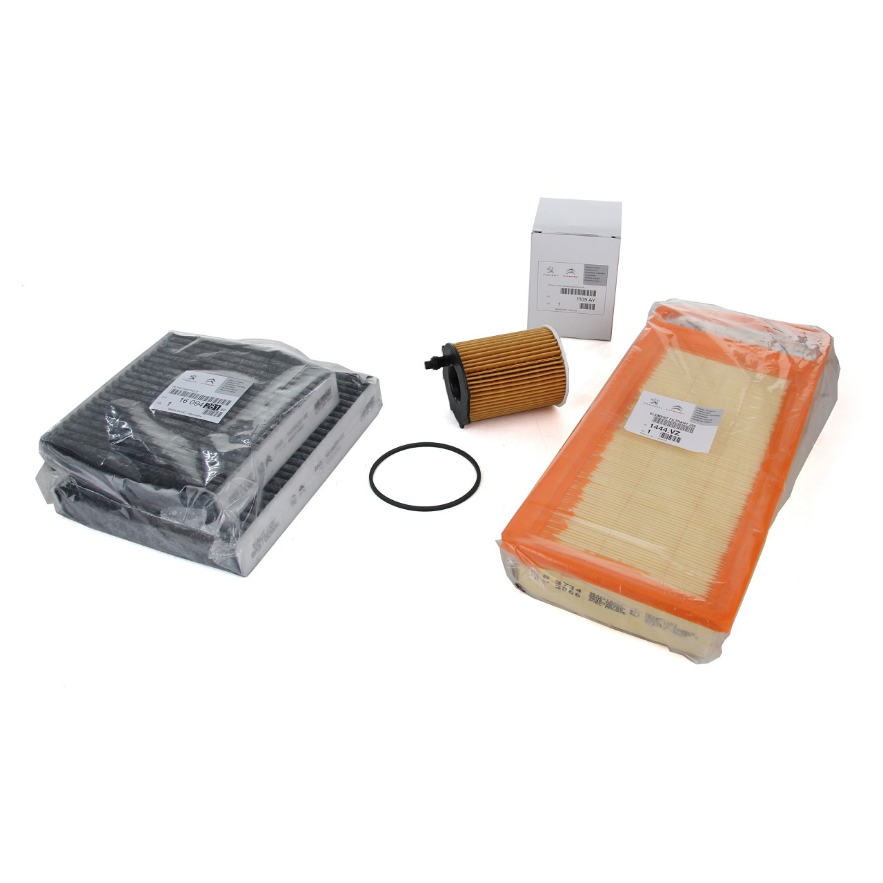 ORIGINAL Citroen Peugeot Inspektionskit Filterpaket C3 II 207 1.4 HDi 68 PS