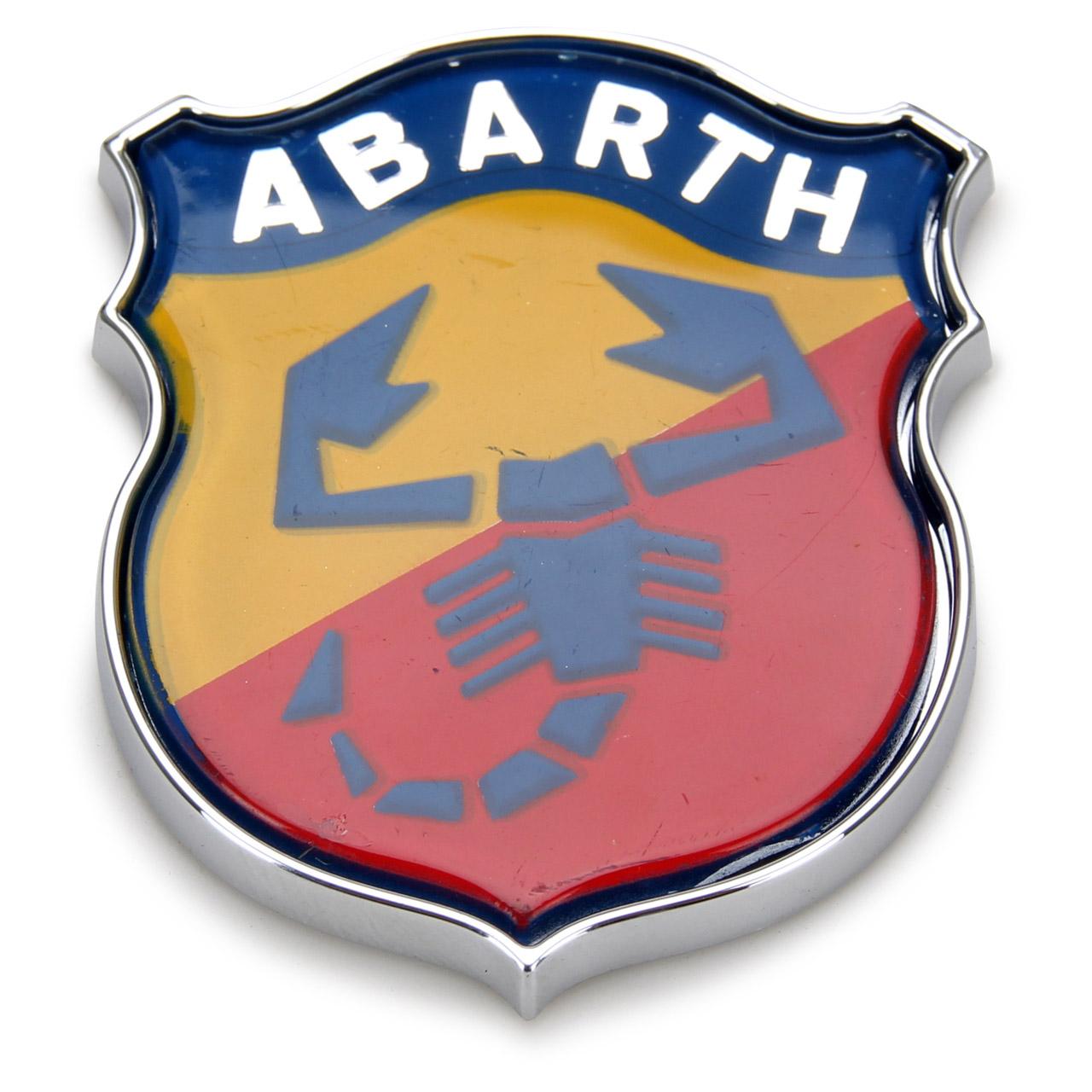 ORIGINAL Fiat Emblem Logo Plakette ABARTH Heckklappe 500 PUNTO RITMO 46767640