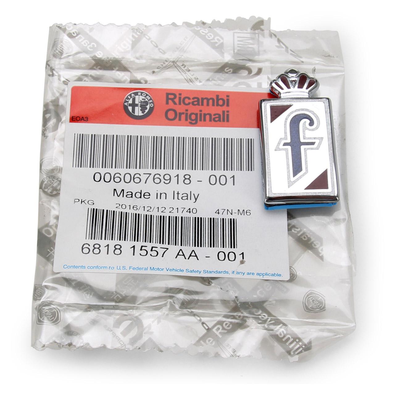 "ORIGINAL Alfa Romeo Emblem Schriftzug GTV 916 SPIDER PININFARINA "" F "" 60676918"