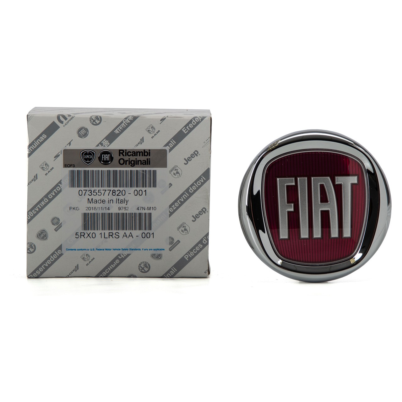 ORIGINAL Fiat Emblem Plakette Logo DOBLO GRANDE PUNTO 199 IDEA hinten 735577820