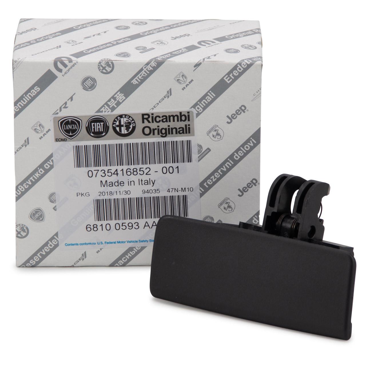 ORIGINAL Fiat Handschuhfach Griff Abdeckung GRANDE / PUNTO (199) 735416852