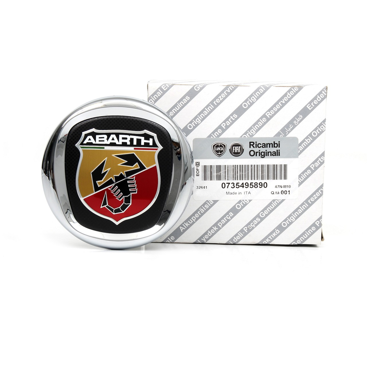 ORIGINAL Fiat Emblem Logo Plakette ABARTH Grande Punto (199) hinten 735495890