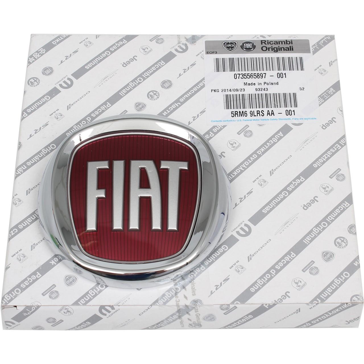 ORIGINAL Fiat Emblem Logo Plakette Heckklappe 500 (312) Punto (188) 735565897