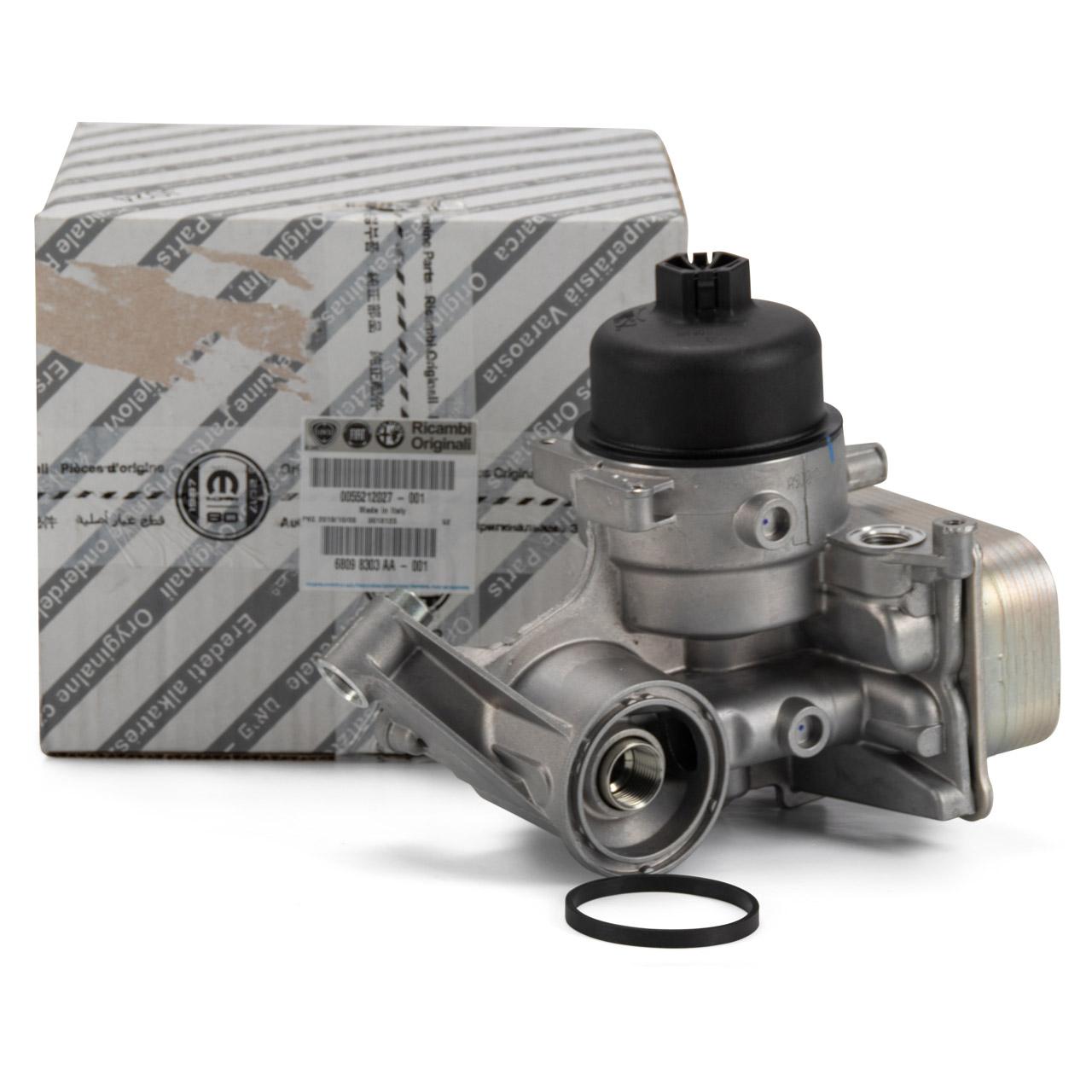 ORIGINAL Fiat Ölkühler inkl. Dichtung DOBLO BRAVO II GRANDE PUNTO LINEA 1.4 55212027