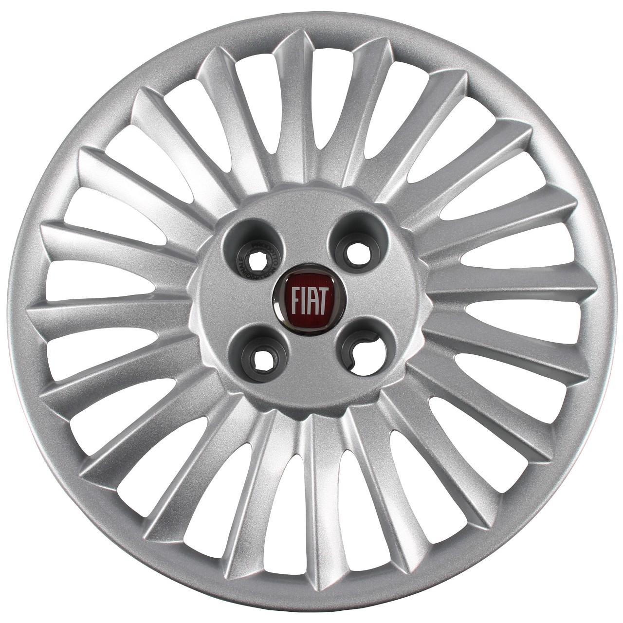 Fiat Radkappe Radblende SILBER 15 Zoll GRANDE PUNTO (199_) 735466748