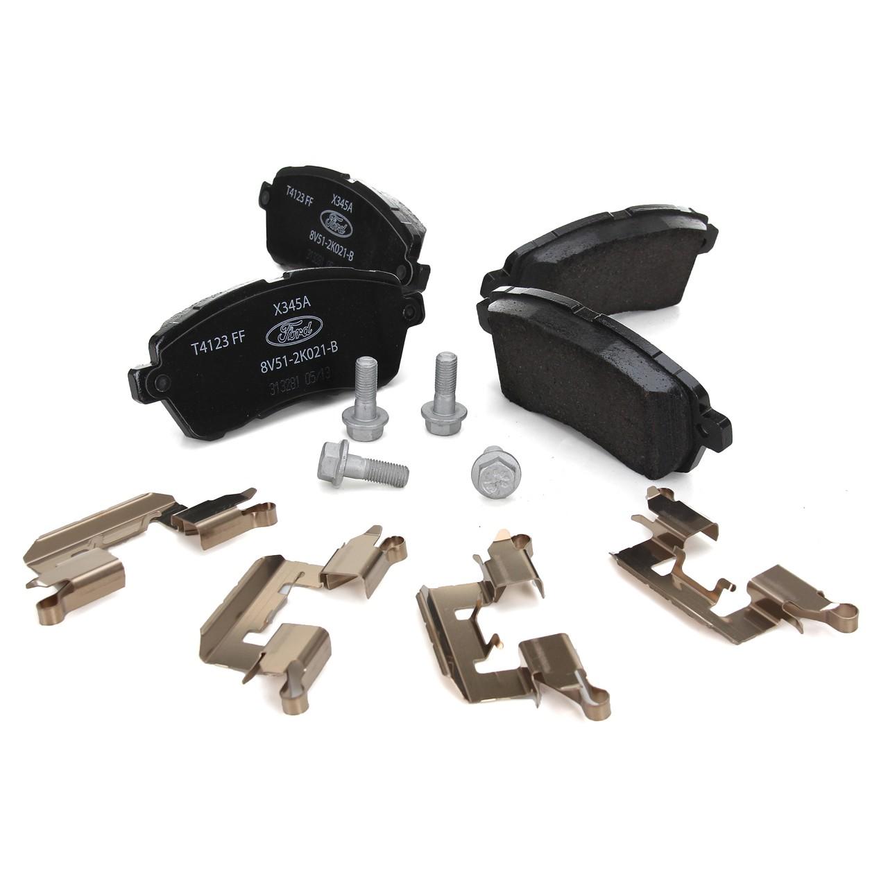 ORIGINAL Ford Bremsen Kit Bremsscheiben + Bremsbeläge FIESTA VI MK6 vorne