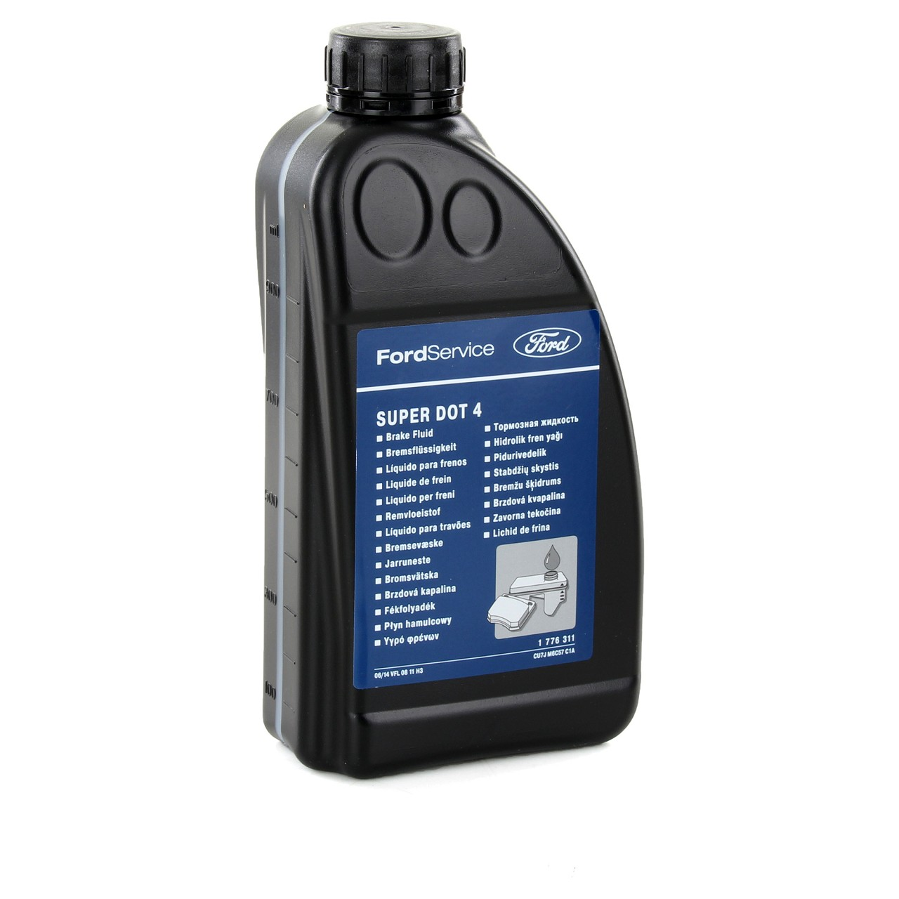 ORIGINAL Ford Bremsflüssigkeit SUPER DOT 4 SUPERDOT4 1 Liter 1L 1776311