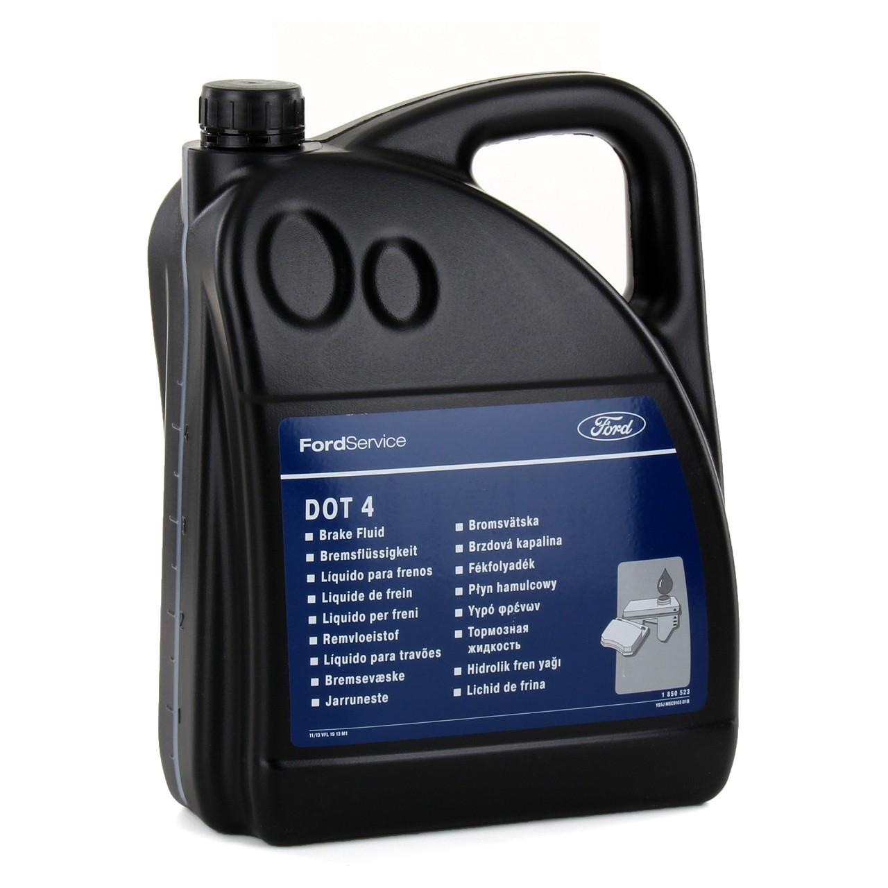 ORIGINAL Ford Bremsflüssigkeit DOT 4 5000ml 5 Liter 5L Kanister DOT4 1850523