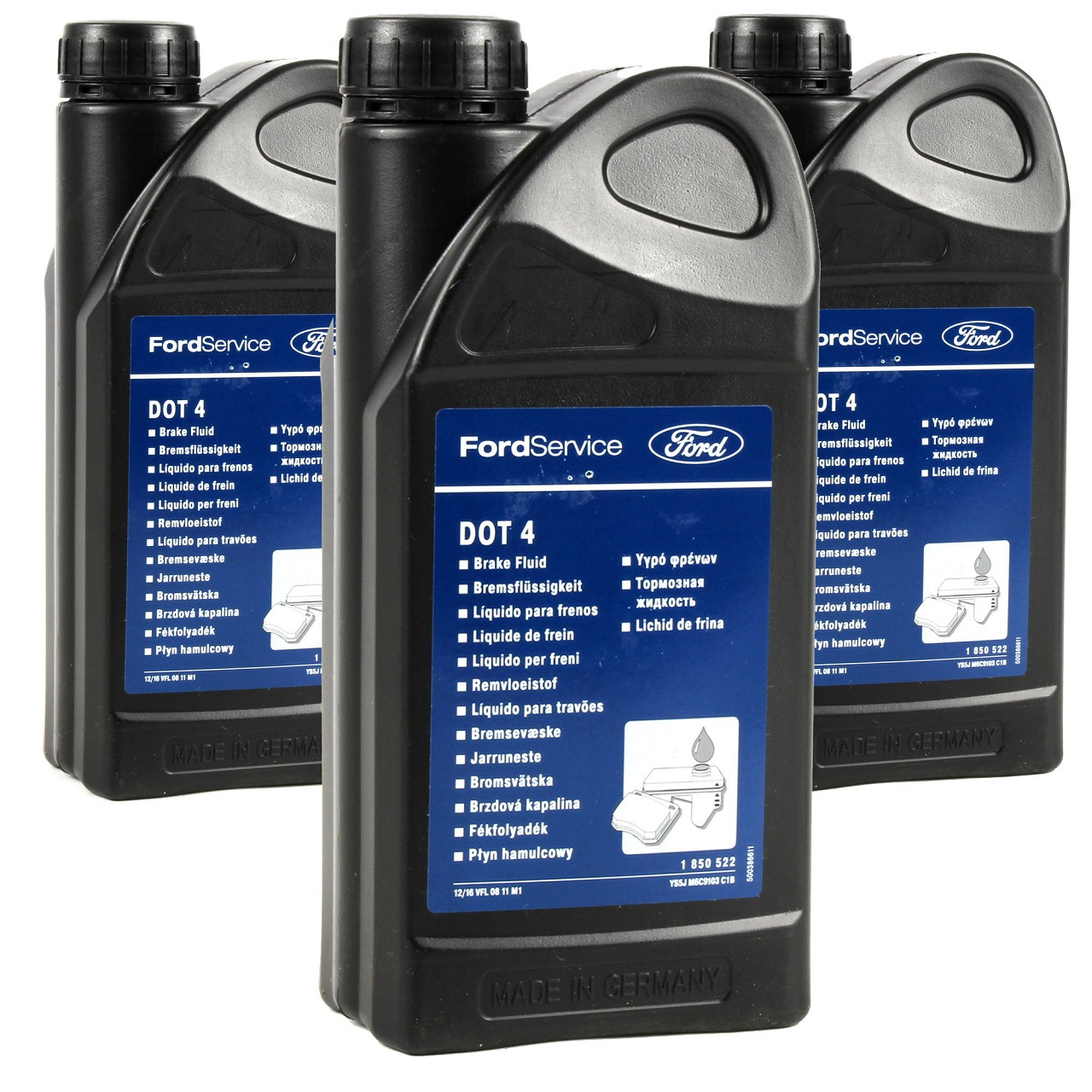 ORIGINAL Ford Bremsflüssigkeit DOT 4 3 Liter 1850522