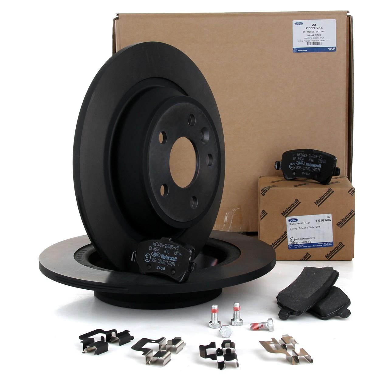 ORIGINAL Ford Bremsen Kit Bremsscheiben + Bremsbeläge GALAXY S-MAX (WA6) hinten