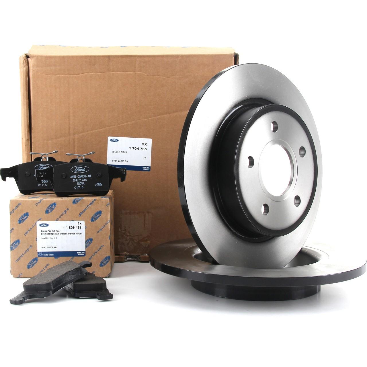 ORIGINAL Ford Bremsscheiben + Bremsbeläge FOCUS III MK3 bis 01.2016 hinten