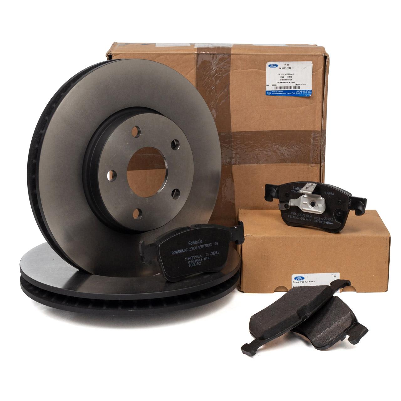 ORIGINAL Ford Bremsscheiben + Bremsbeläge FOCUS 4 1.0 EcoBoost 1.5 EcoBlue vorne