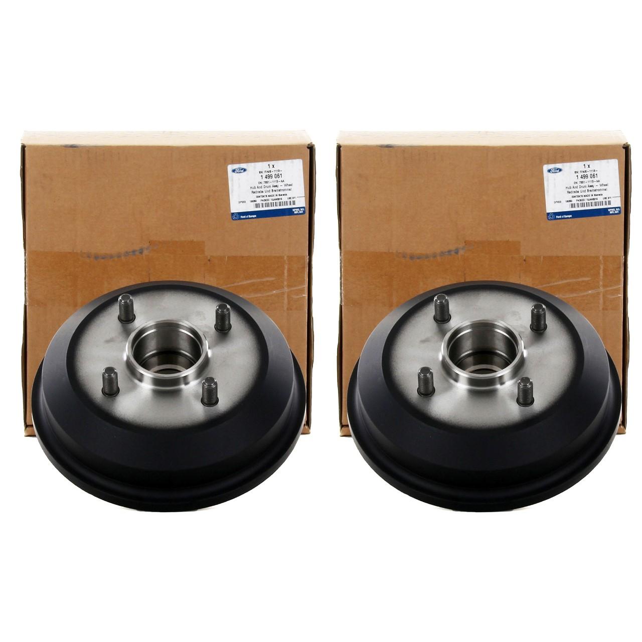 ORIGINAL Ford Bremstrommel Satz FIESTA IV MK4 KA (RB) PUMA (EC_) hinten 1499061