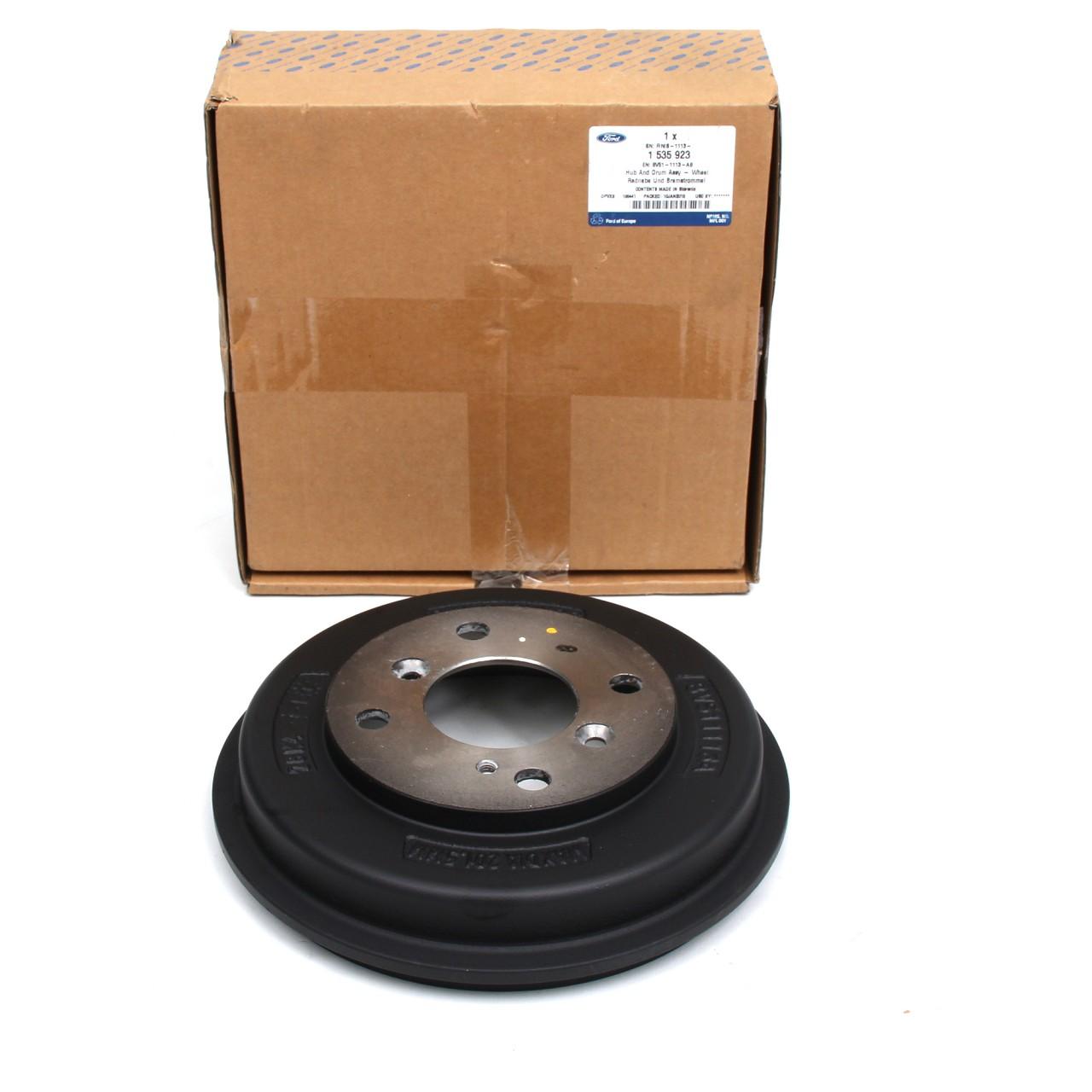 ORIGINAL Ford Bremstrommel Satz FIESTA VI MK6 hinten 1535923