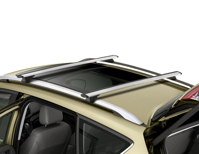 mit offener Dachreling Dachträger silber ALU Relingträger für Ford Kuga II 12