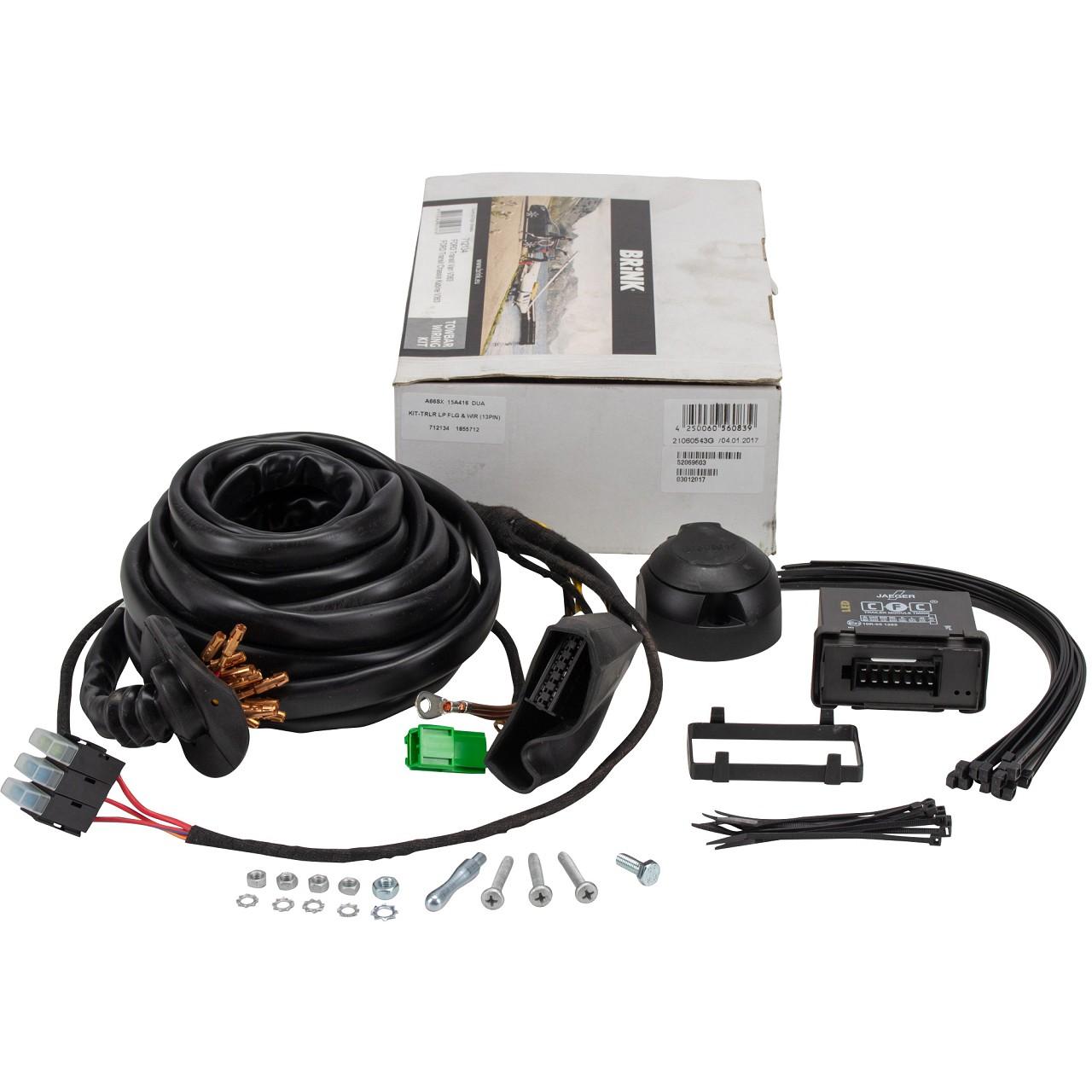 ORIGINAL Ford E-Satz Kabelsatz Anhängerkupplung 13-polig 1855712 für TRANSIT