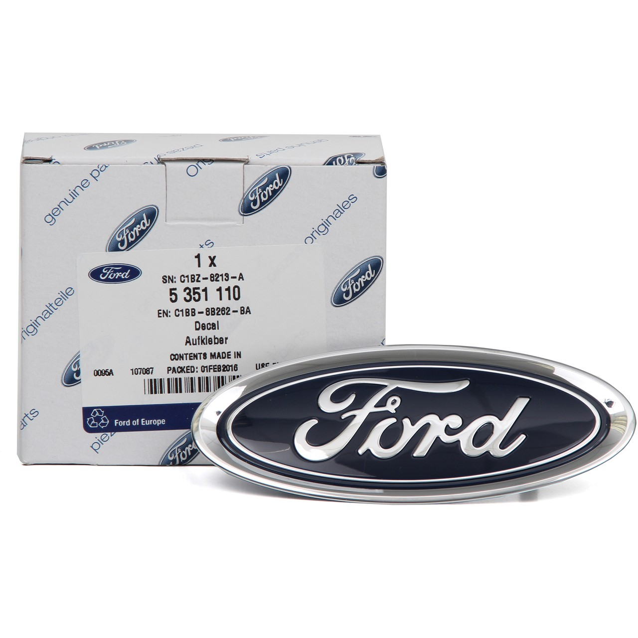 ORIGINAL Ford Emblem Plakette Logo Wappen C-Max II Focus III vorne 5351110
