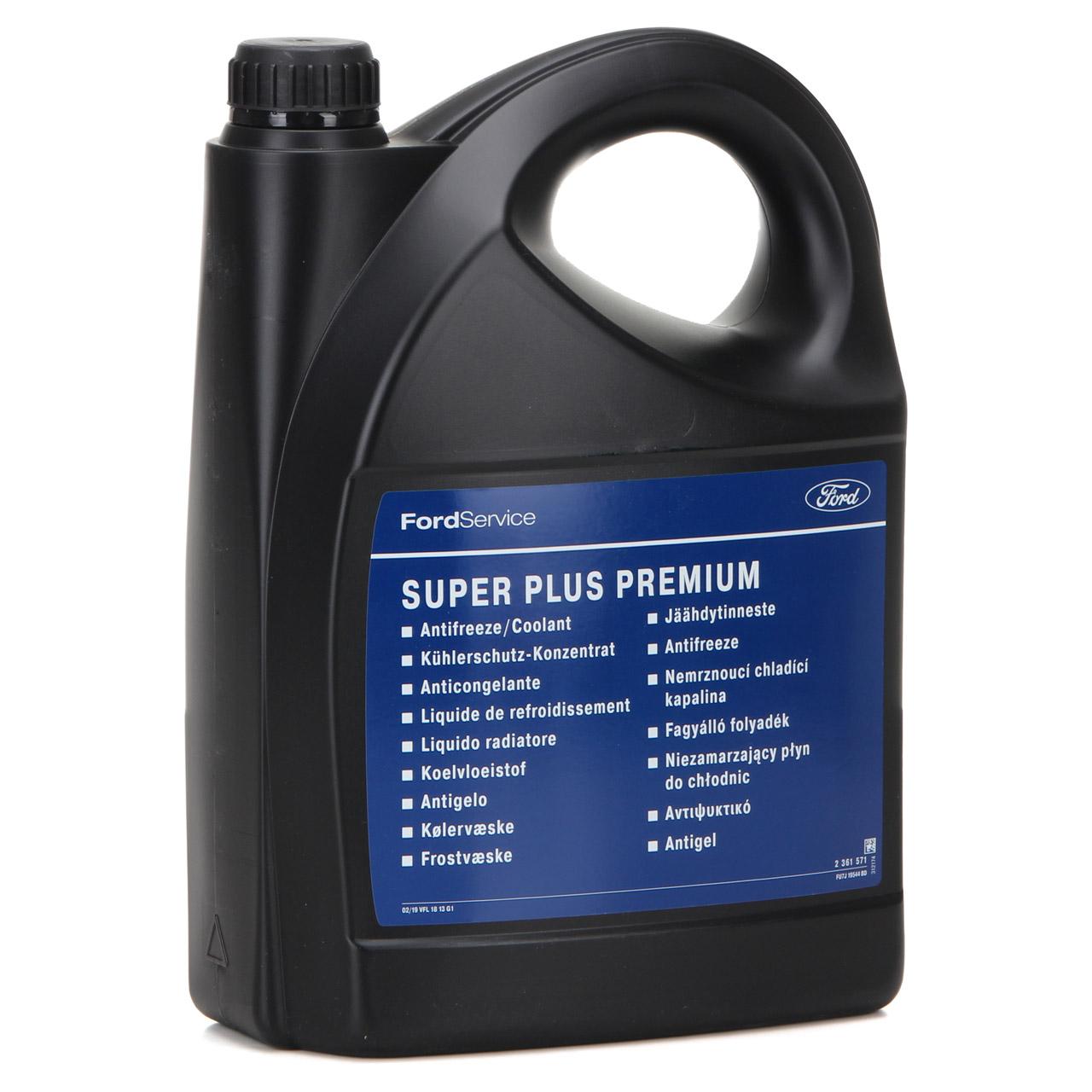 ORIGINAL Ford Kühlerfrostschutz Kühlkonzentrat SUPER PLUS PREMIUM 2361571 - 5L