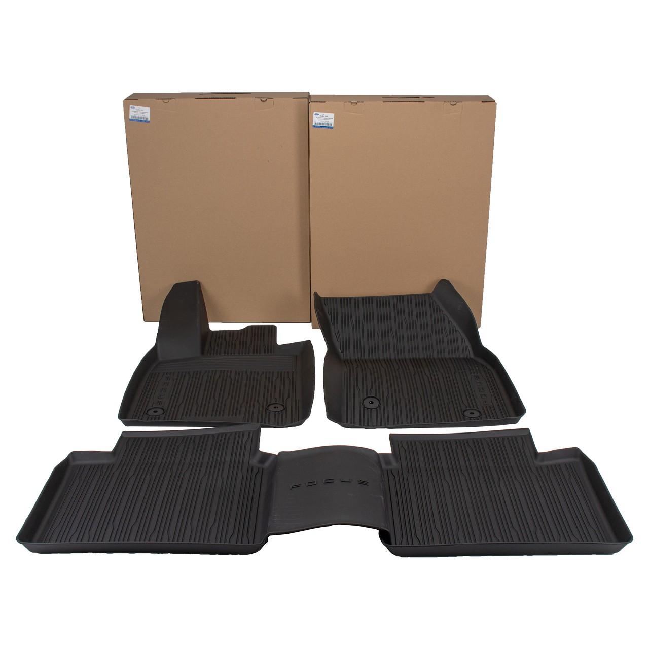 ORIGINAL Ford Gummimatten Fußmatten Automatten Focus 4 MK4 vorne + hinten 4-teilig