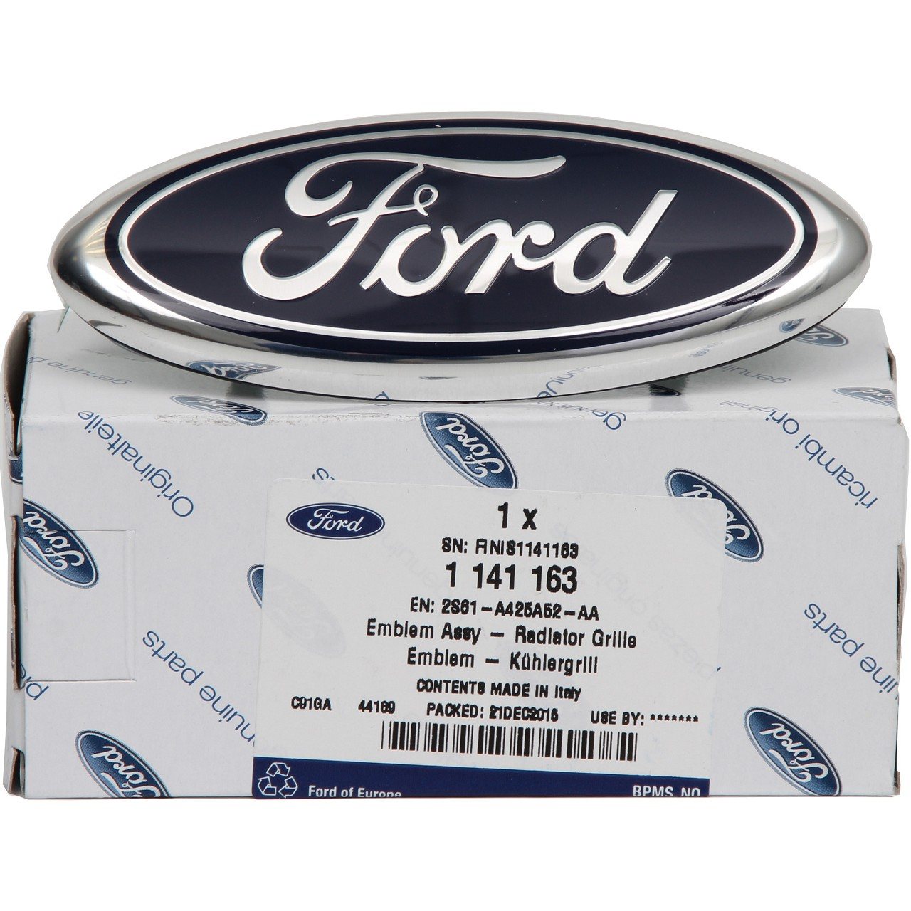 ORIGINAL Ford Emblem Logo Plakette Fiesta V Focus III Fusion S-Max WA6 1141163