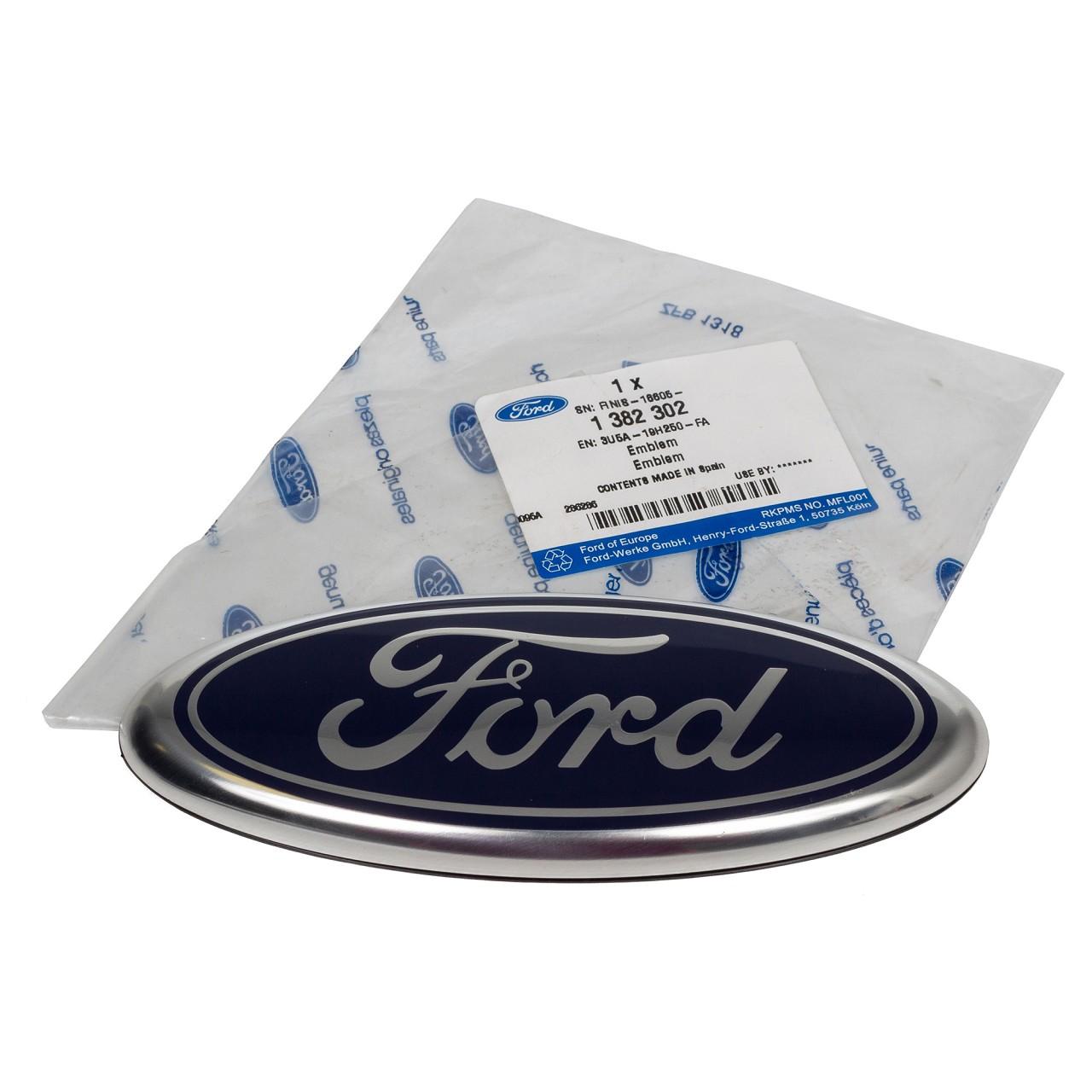 ORIGINAL Ford Emblem Schriftzug Plakette Transit 12.1985-03.2000 hinten 1382302