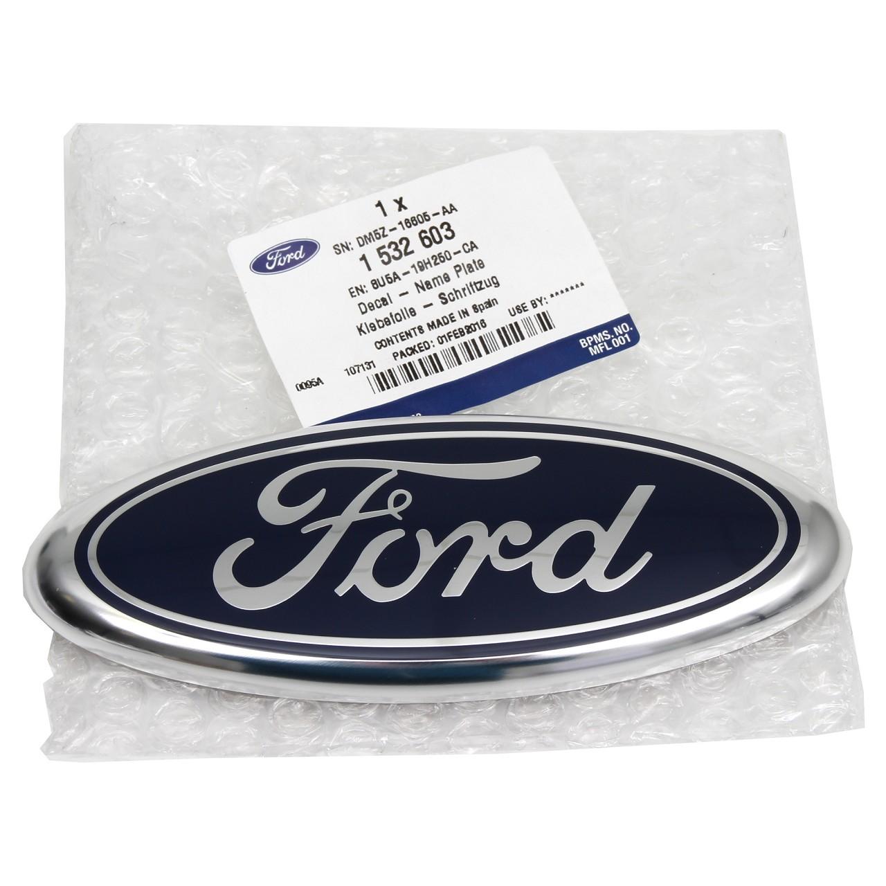 ORIGINAL Ford Emblem Schriftzug Zeichen Oval B-Max C-Max vorne / hinten 1532603