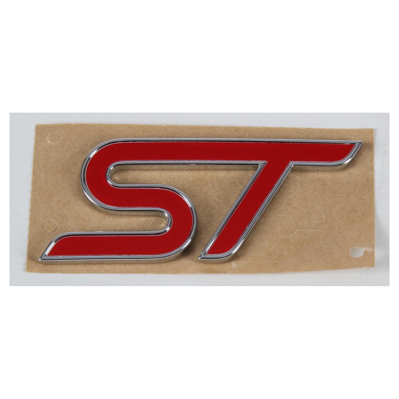 ORIGINAL Ford Emblem Schriftzug Aufkleber Zeichen ''ST'' Focus III hinten 180...
