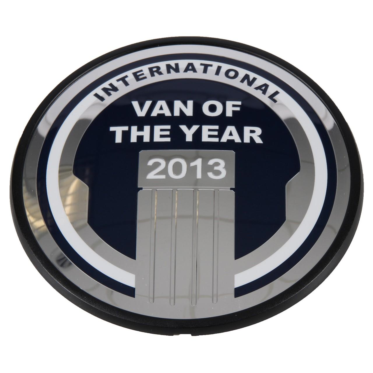 ORIGINAL Ford Emblem Aufkleber Zeichen ''Van of the year 2013'' hinten 1821975