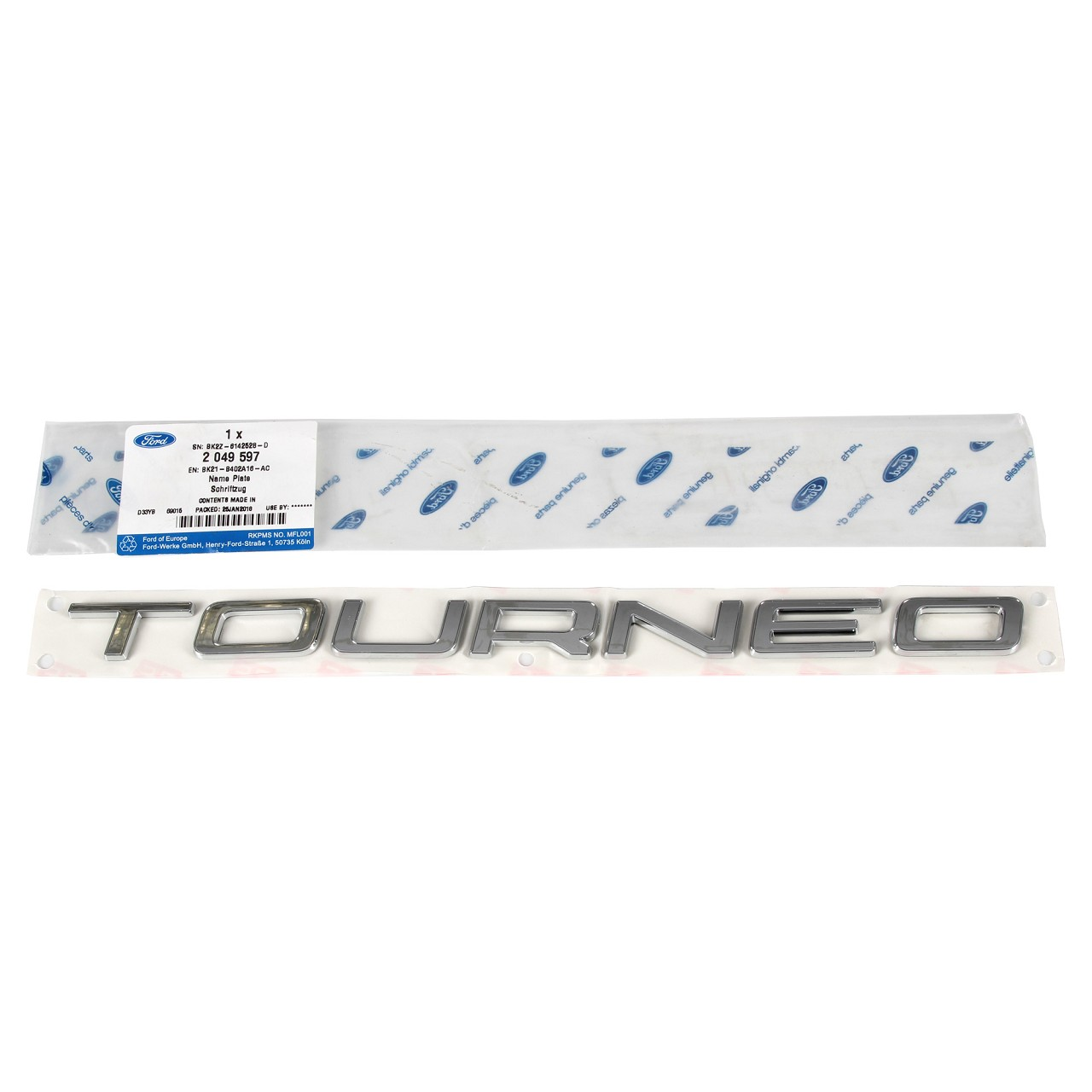 ORIGINAL Ford Emblem Schriftzug Zeichen ''Tourneo'' Transit 2012- hinten 2049597