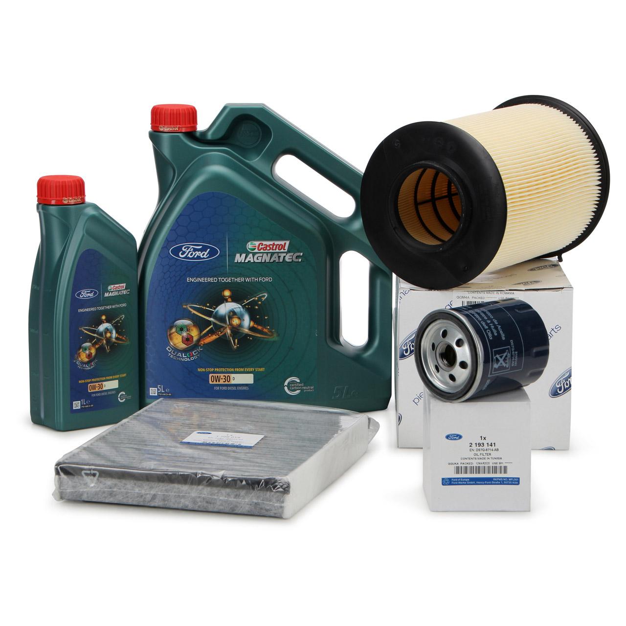ORIGINAL Ford Filterset 3-tlg + 6 Liter Motoröl D 0W30 Focus 3 MK3 Kuga 2 MK2 2.0 TDCi