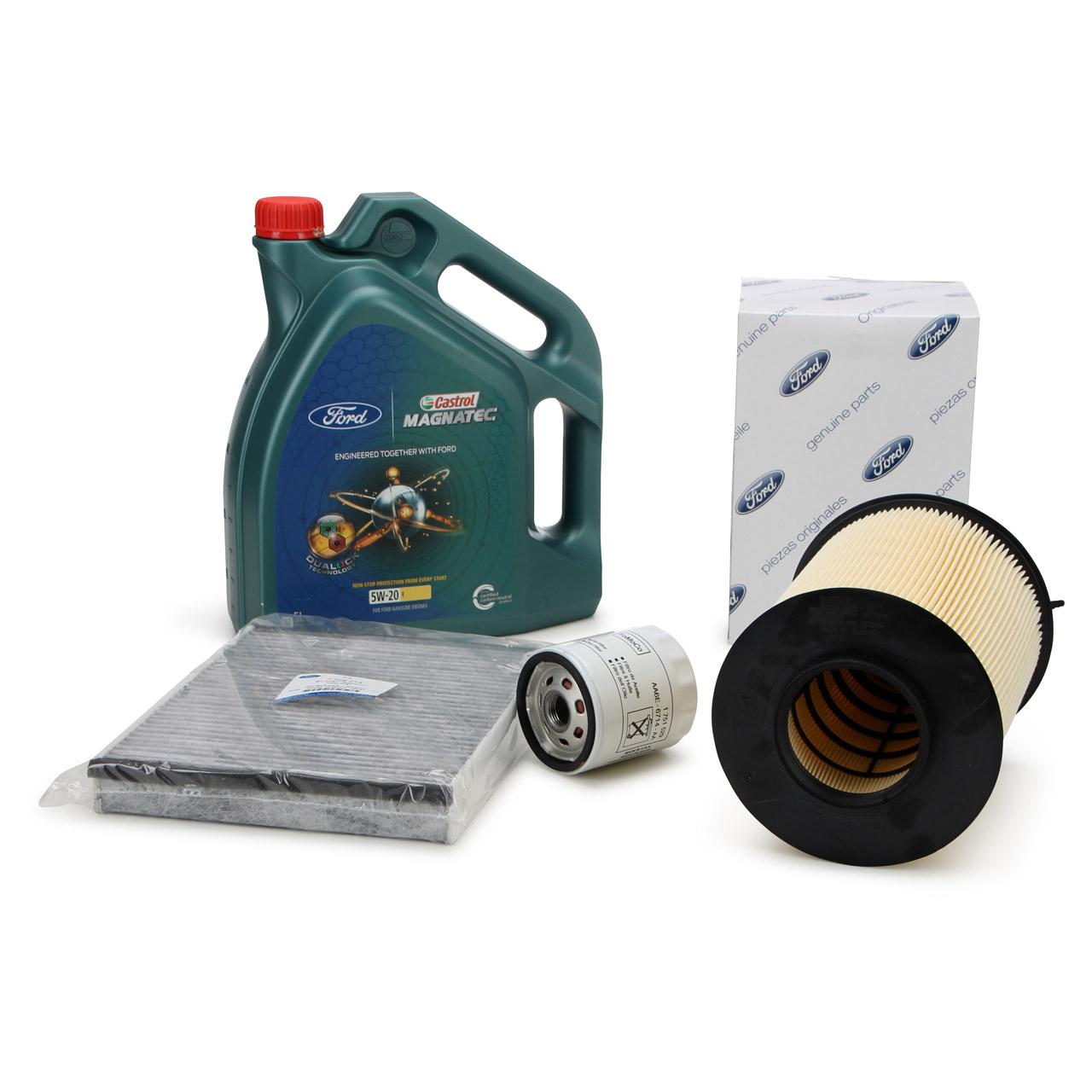 ORIGINAL Ford Inspektionskit + 5 L 5W20 Motoröl für C-MAX 2 FOCUS 3 1.0 EcoBoost