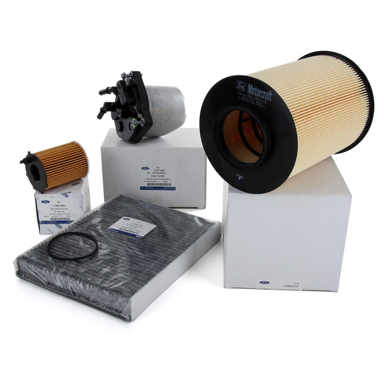 ORIGINAL Ford Inspektionskit Filterpaket GRAND / C-MAX II FOCUS III 1.6 TDCi