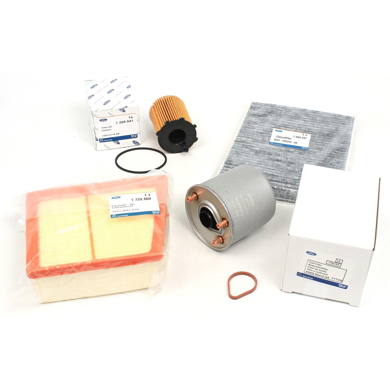 ORIGINAL Ford Inspektionskit Filterset B-Max Fiesta VI 1.4-1.6TDCi 70-95 PS