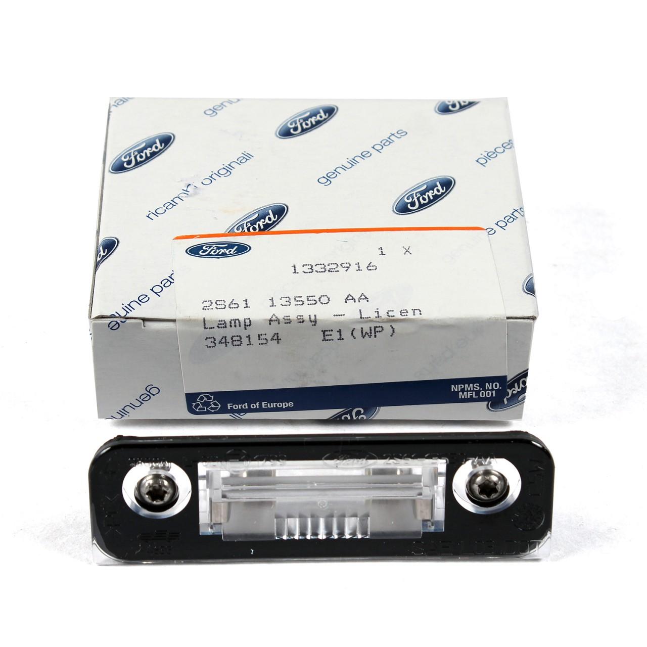 2x ORIGINAL Ford Kennzeichenleuchte Nummernschildleuchte Fiesta V Mondeo 1332916