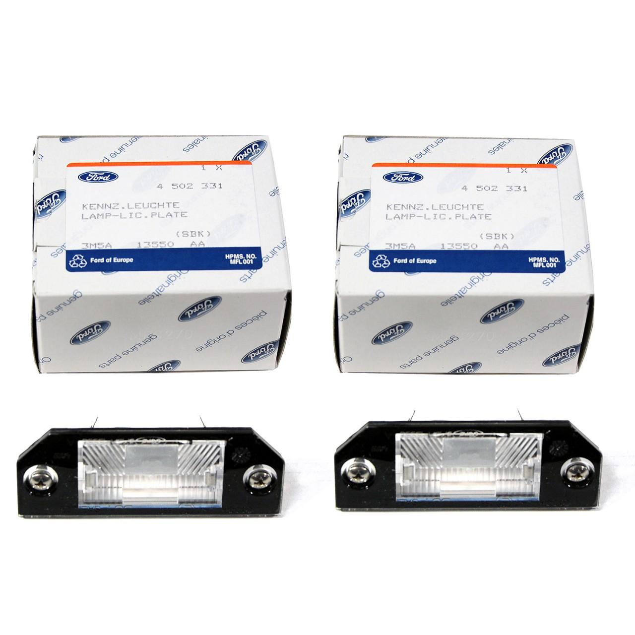 2x ORIGINAL Ford Kennzeichenleuchte + Glühlampe FOCUS / C-MAX FOCUS II 4502331
