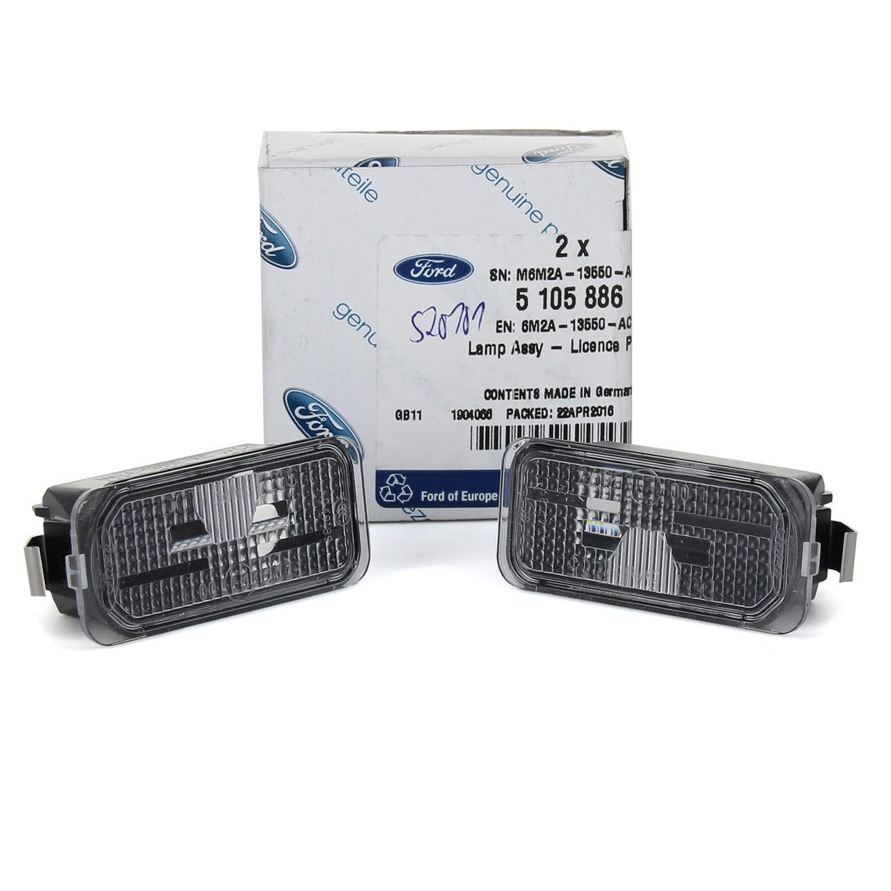 2x ORIGINAL Ford Kennzeichenleuchte FIESTA VI FOCUS II GALAXY KUGA S-MAX 5105886