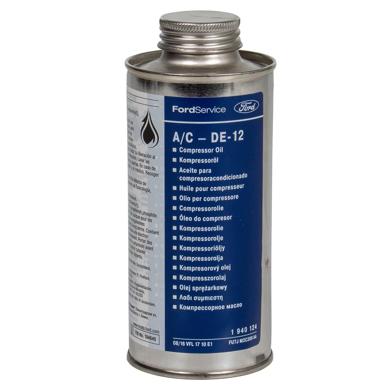 ORIGINAL Ford Kompressor-Öl Kompressoröl Kälteöl A/C DE-12 250ml 1940124