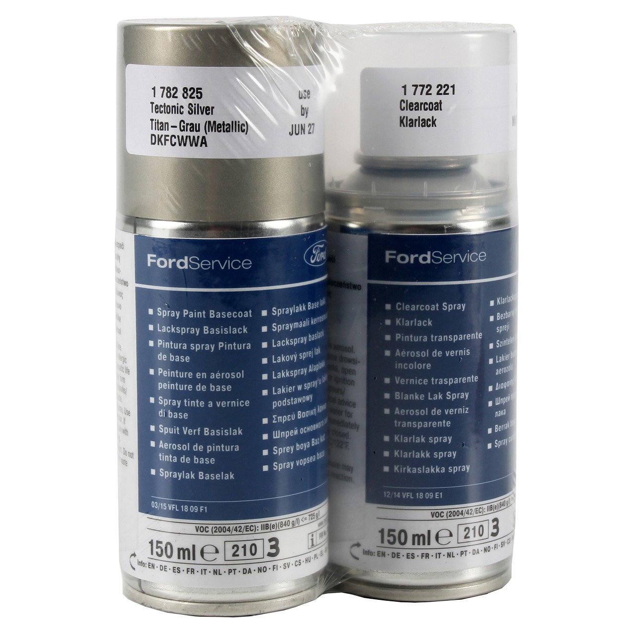 ORIGINAL Ford Lacksprühdose GRAU-METALLIC TITAN + Klarlack 150ml 1782825
