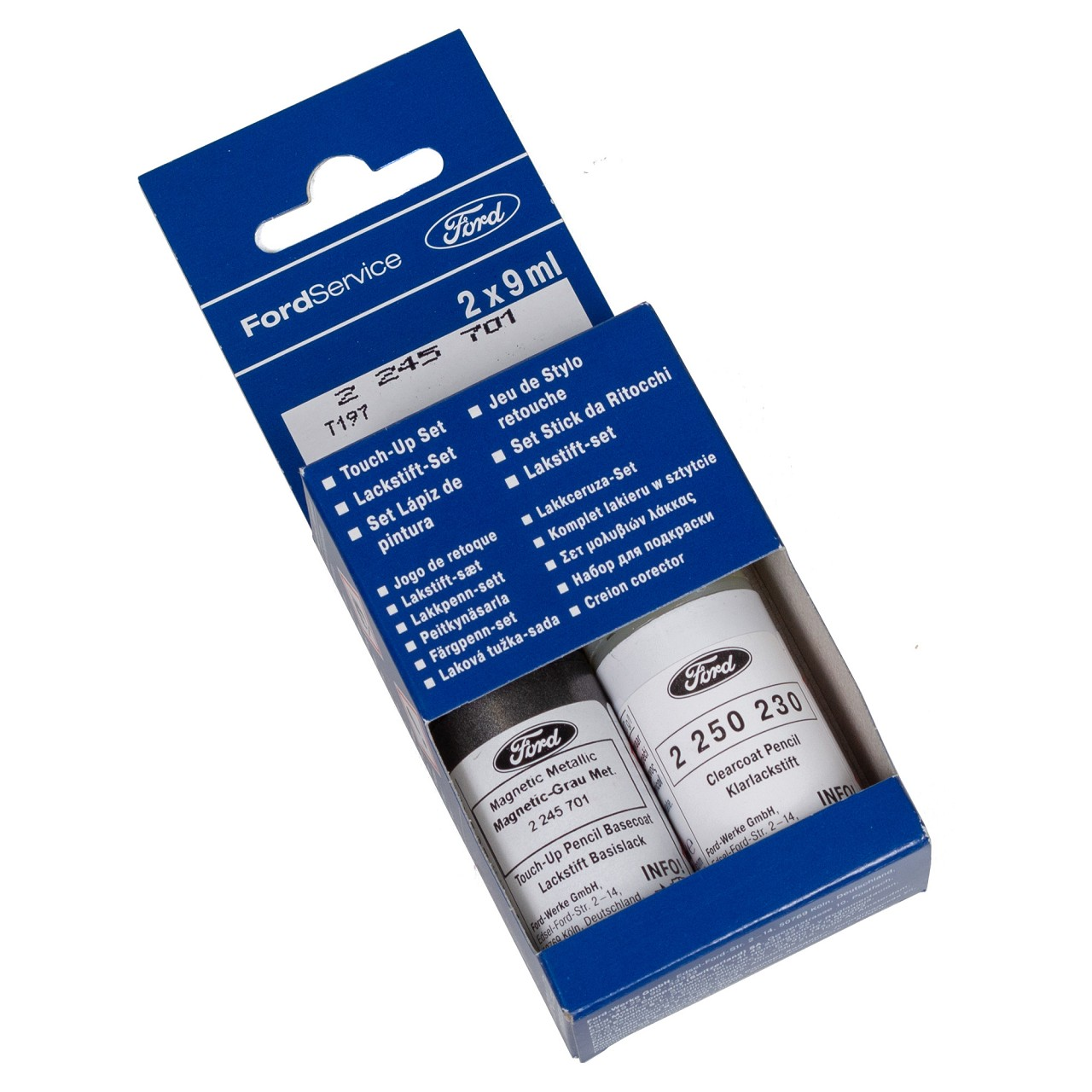 ORIGINAL Ford Lackstift Set MAGNETIC GRAU-METALLIC + Klarlack 2x 9ml 2245701