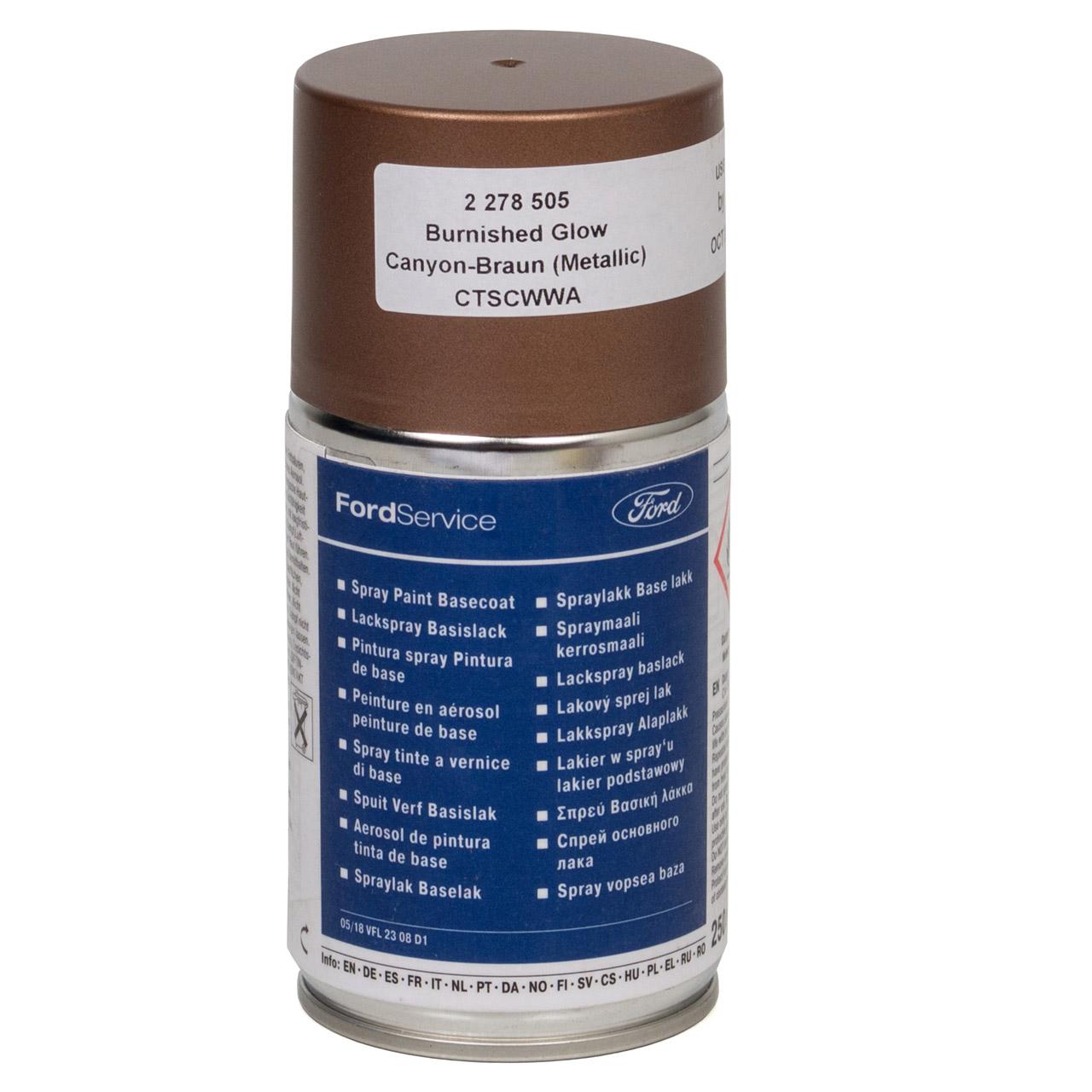 ORIGINAL Ford Lack Sprühdose Spraydose Dose CANYON BRAUN Metallic 250ml 2278505