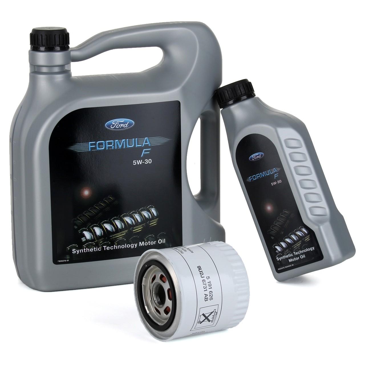 ORIGINAL Ford Motoröl Öl 5W30 5W-30 FORMULA F L 6 Liter + Ölfilter 5191626