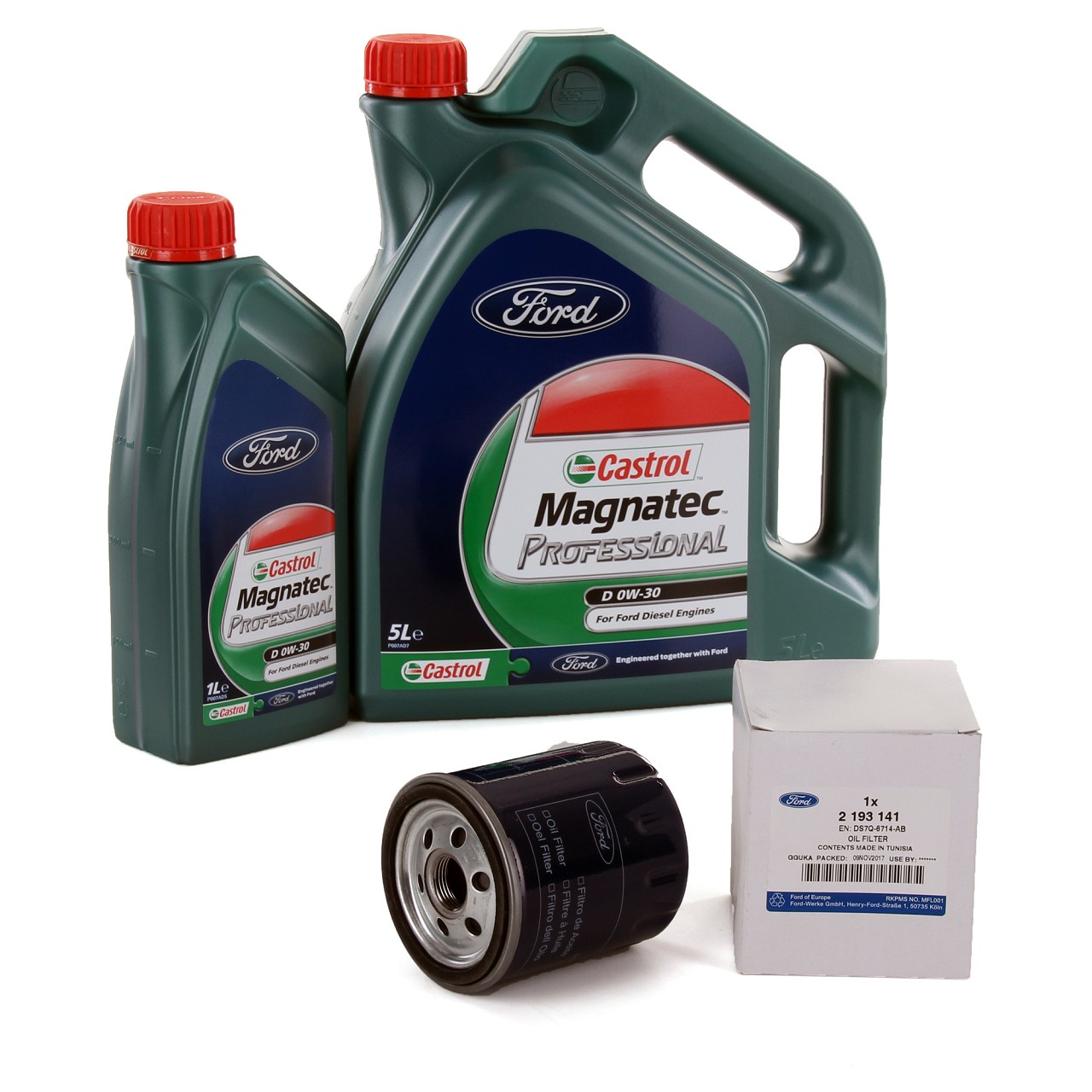 ORIGINAL Ford CASTROL 0W30 6 L + Filter 2193141 FOCUS GALAXY MONDEO V 2.0 TDCi
