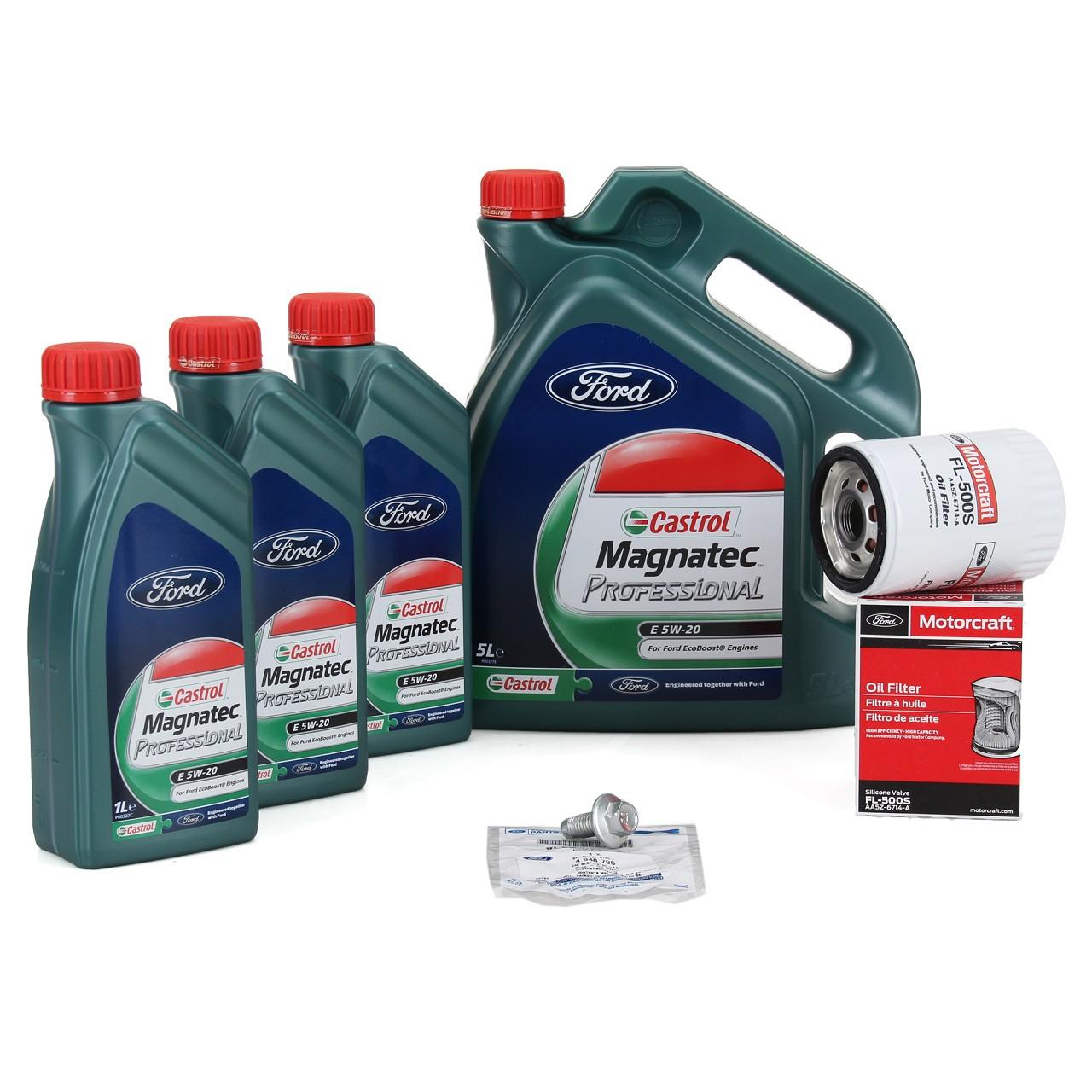 ORIGINAL Ford CASTROL Magnatec Professional E 5W20 + Ölfilter 2081941 Mustang V8