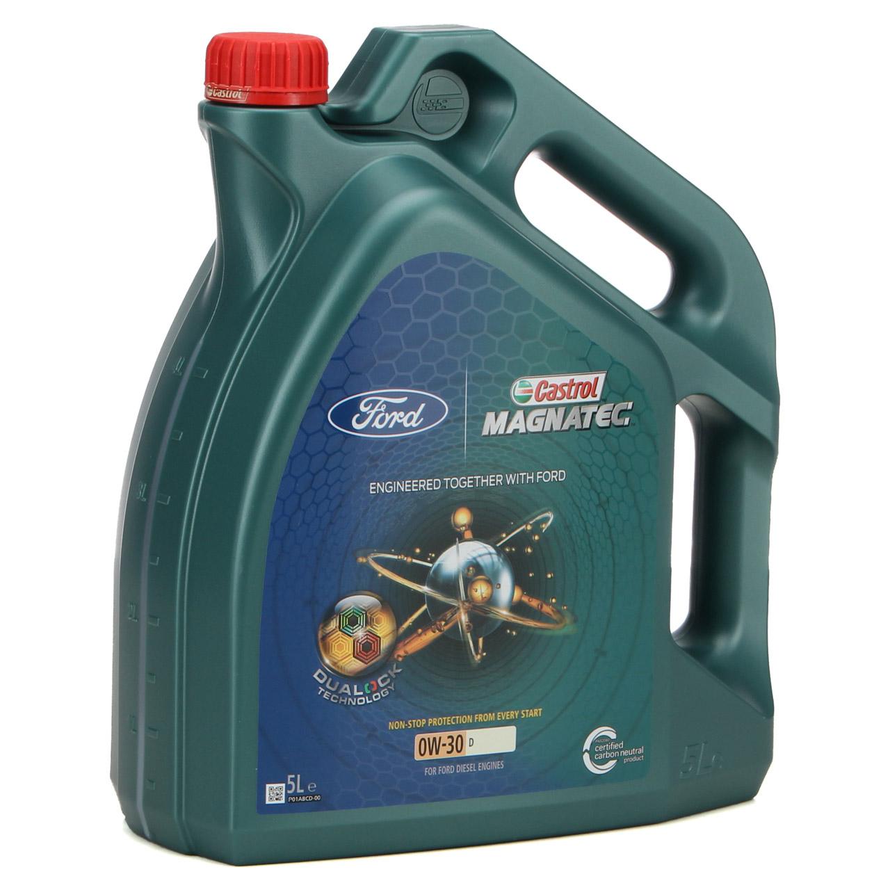 ORIGINAL Ford CASTROL Motoröl Öl MAGNATEC D 0W30 0W-30 5L 5 Liter 15D5FF