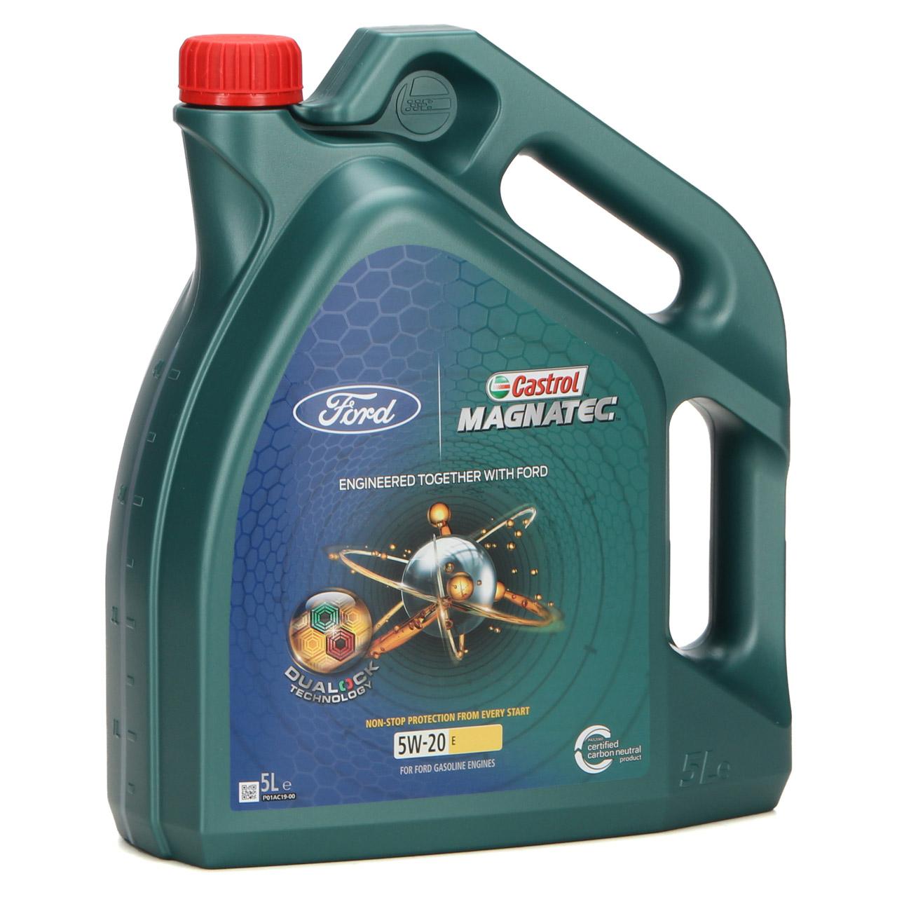 5L 5 Liter ORIGINAL Ford CASTROL Motoröl Öl MAGNATEC E 5W-20 5W20 515D63E