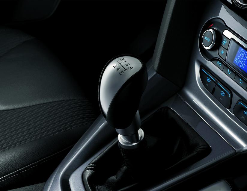ORIGINAL Ford Schaltknauf Schwarzes Leder und Aluminium-Design 5-Gang 1769606