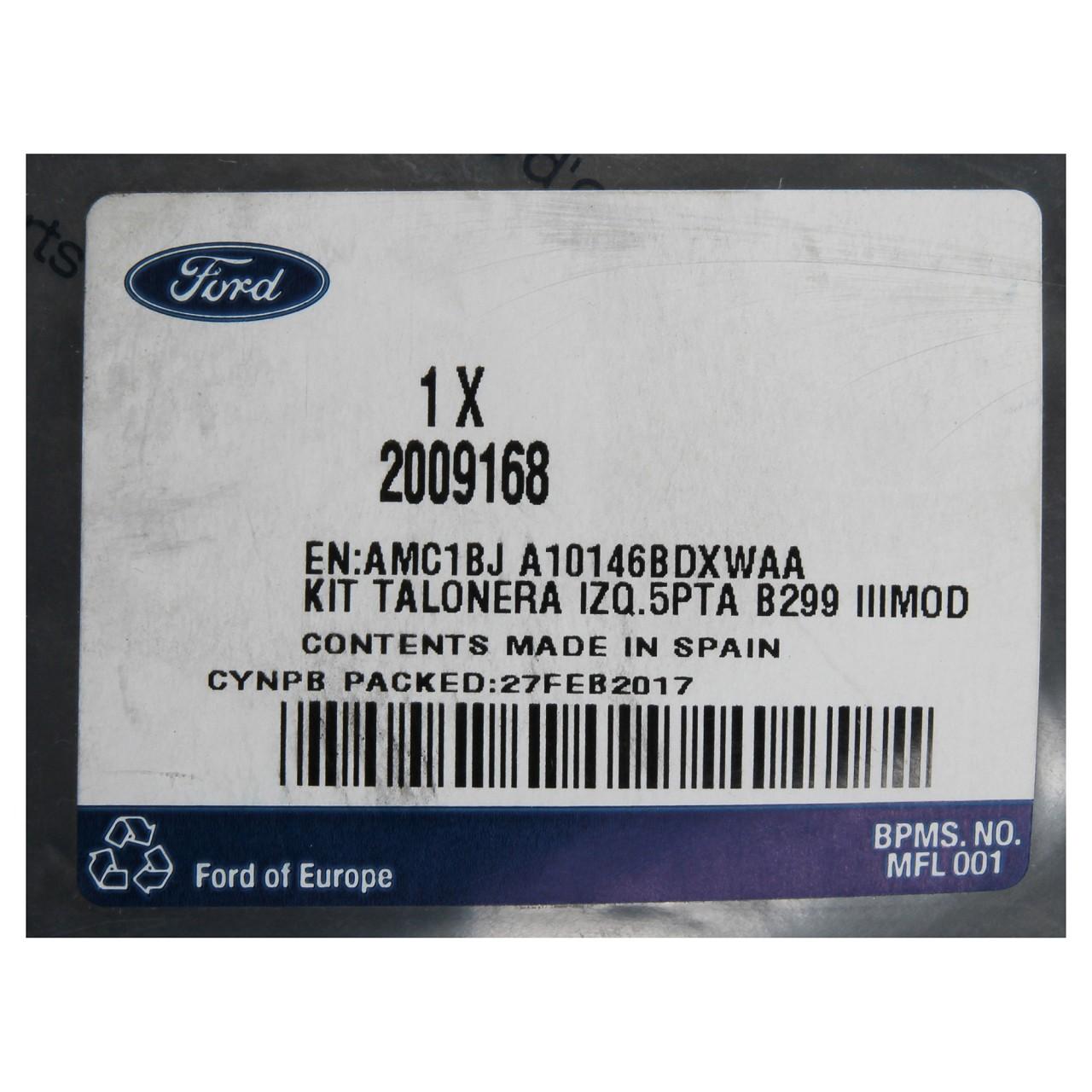 ORIGINAL Ford Seitenschürze Seitenschweller LINKS 2009168 FIESTA VI ab 11.2012